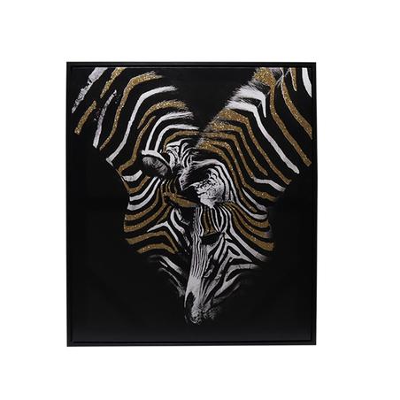 tela impressa c/ mold zebras com gliter 80x70x4.5cm