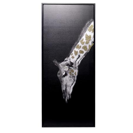 tela impressa c/ mold girafa gliter 120x50x4.5cm