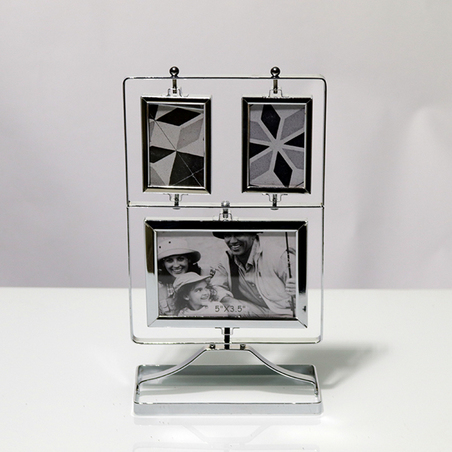 porta retrato de mesa p fotosmetal prata 35x19x12cm