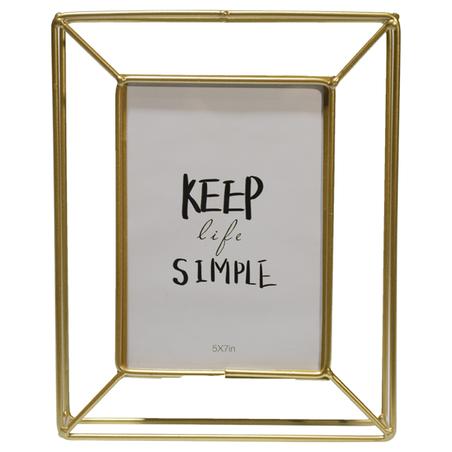 porta retrato keep simple ferro dourado 22,7x17,5cm