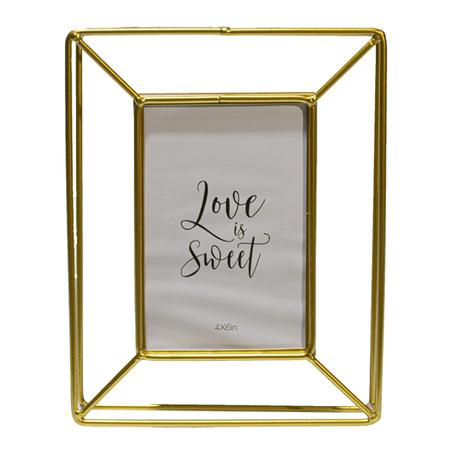 porta retrato love sweet ferro dourado 25,5x20cm