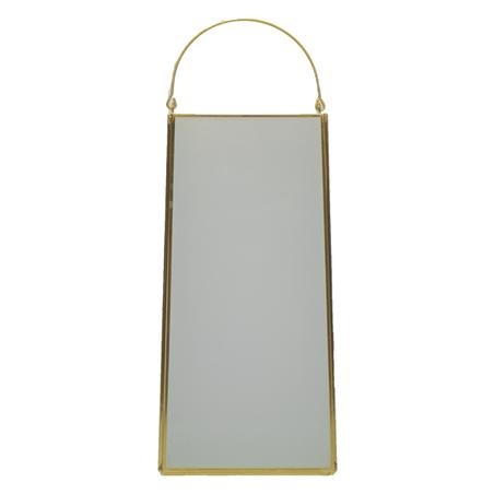 caixa vidro metal branco dourado 25x11x11cm