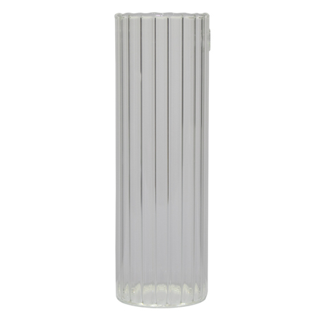 vaso vidro parede canaletado incolor 20x6,5x6,5cm