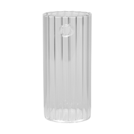 vaso vidro parede canaletado incolor 14x6,5x6,5cm