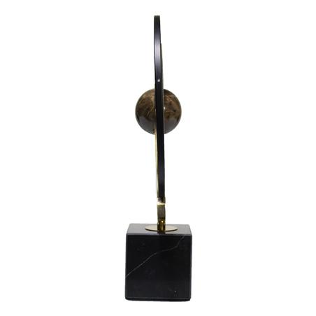 astrolábio metal dourado preto 44x31x12cm