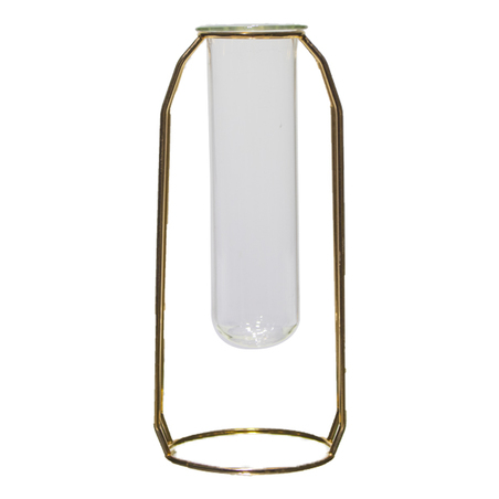 vaso vidro aramado grande dourado