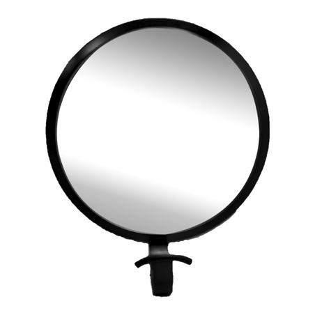 gancheira espelho redonda preta 23x19x8cm