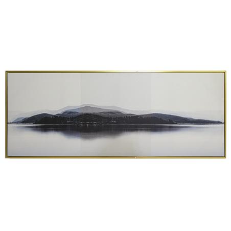 tela impressa c/ mold paisagem lago montanhas 70x180x3.5cm