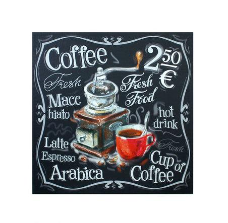 tela impressa coffee machine  60x60x3cm