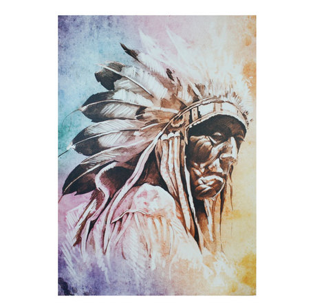 tela impressa indio apache140x100x4cm