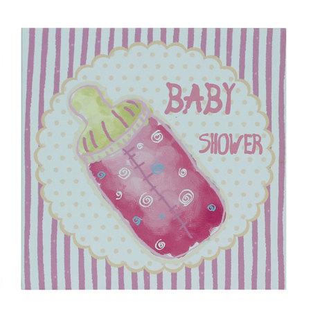 tela impressa baby shower  20x20x4cm