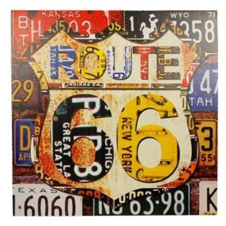 -tela impressa route 66  60x60x4cm