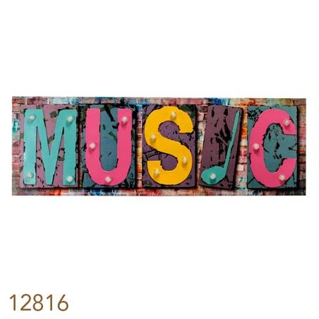 tela impressa c met led music 40x120x5,5cm