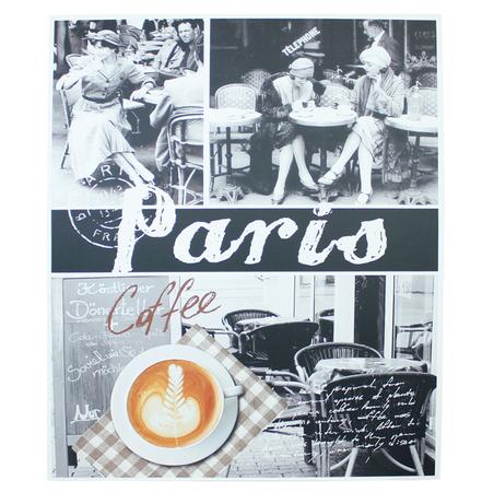 tela impressa cafe paris femme  100x120x4cm