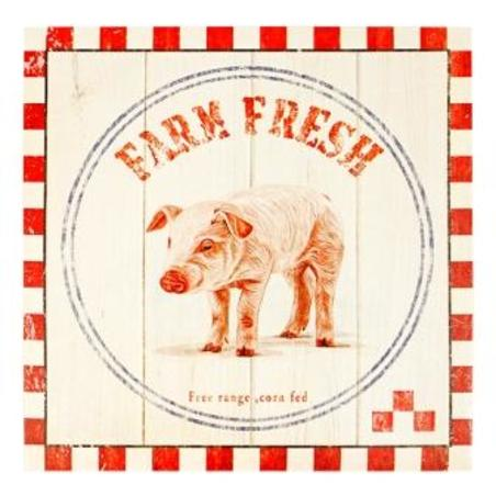 -tela impressa farm fresh pig  28x28x4cm