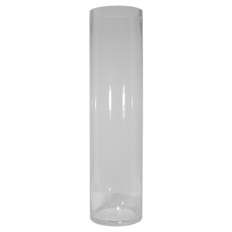 vaso redondo vidro liso pequeno incolor 40x15x15cm