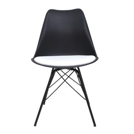 cadeira pe palito preta  50x48x82cm