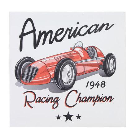 tela impressa carro american racing  28x28x3cm
