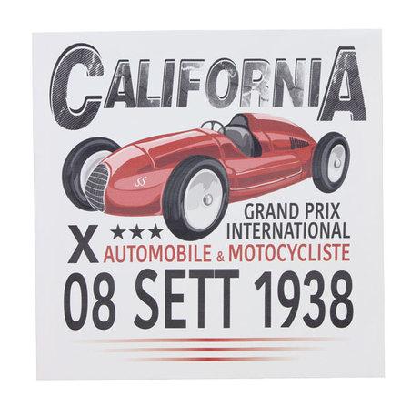 tela impressa carro california  28x28x3cm