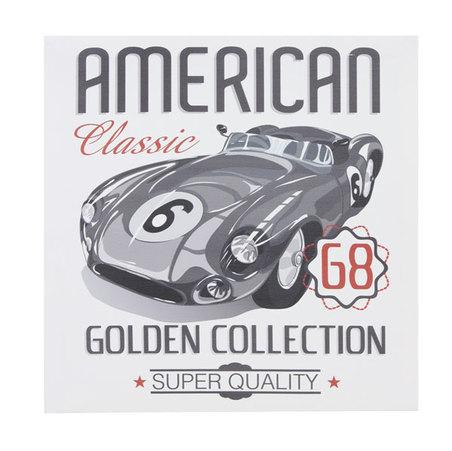 tela impressa carro american classic  28x28x3cm