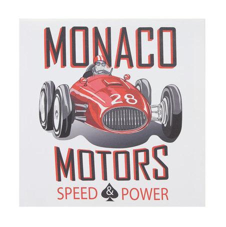 tela impressa carro monaco motors  28x28x3cm