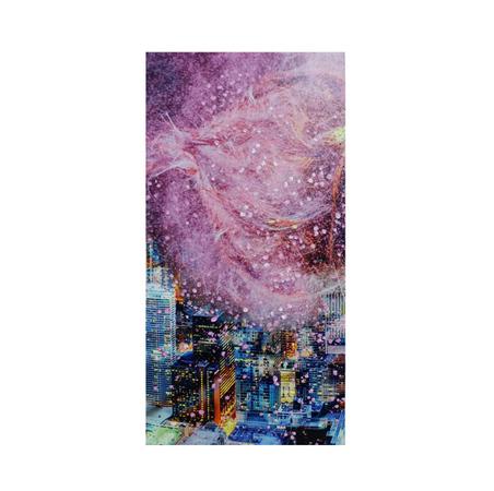 tela impressa e pintada a mao cloud  80x160x4cm