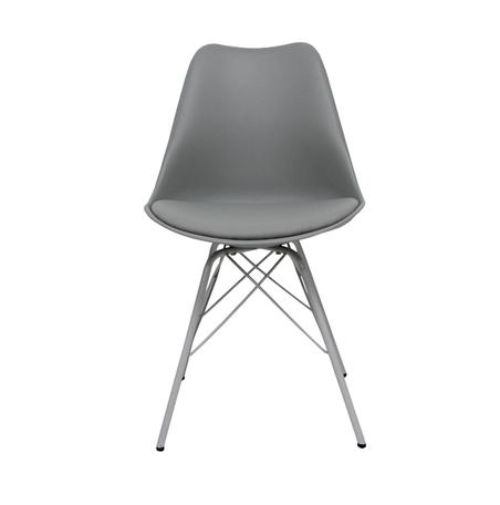 cadeira pe palito cinza  50x48x82cm