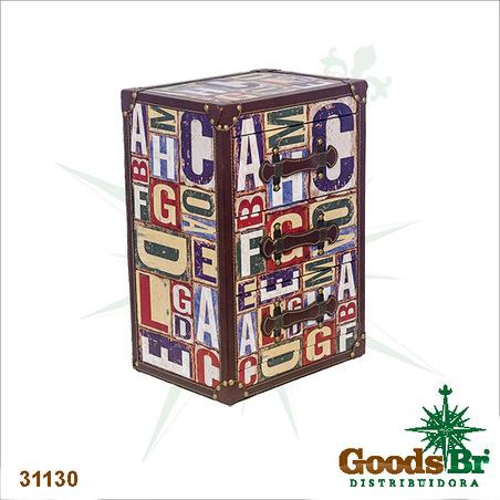 comoda alfabeto 3 gavetas  50x34x25cm