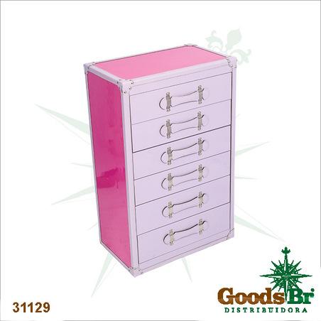 -comoda porta joias rosa e lilas  80x50x31cm