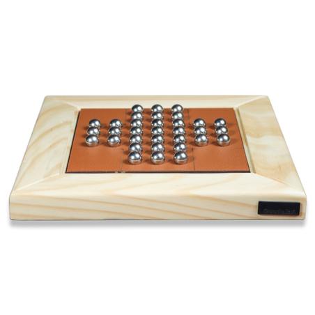 Jogo Resta Um madeira Natural RECOURO CARAMELO 23x23x3,5