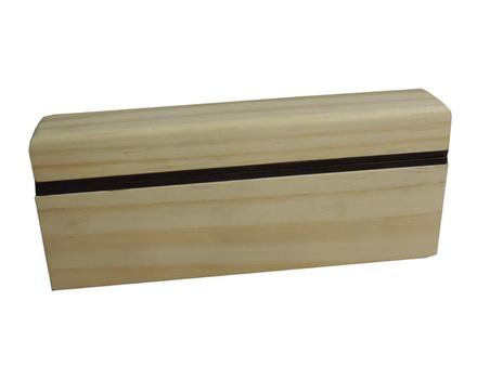 Estojo 2 Baralhos madeira NatuRAL RECOURO CARAMELO 23X4X9,5