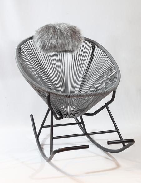 cadeira de balanÇo acapulco cinza 80x100x70cm