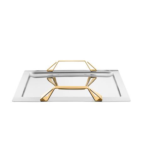 bandeja nusa dua grande detalhes em ouro 5,2x35,5x51cm