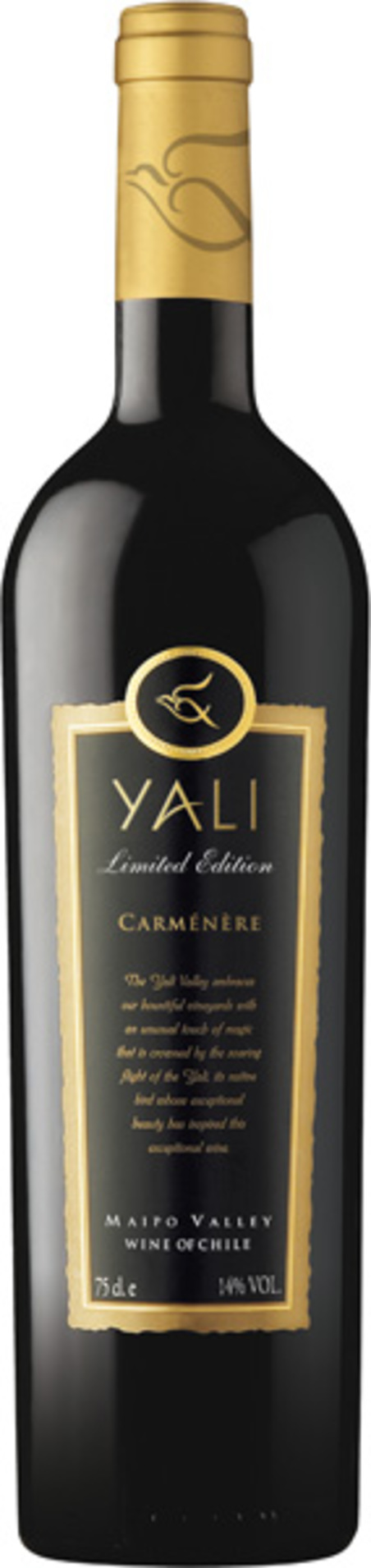 vinho yali - limited edition carmenere - tinto
