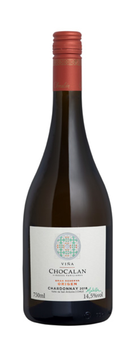 vinho chocalan - origem gran reserva chardonnay - branco