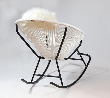 cadeira de balanÇo acapulco branca 80x100x70cm