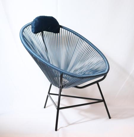 cadeira acapulco azul marinho80x100x70cm