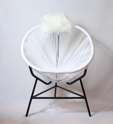 cadeira acapulco branca 80x100x70cm