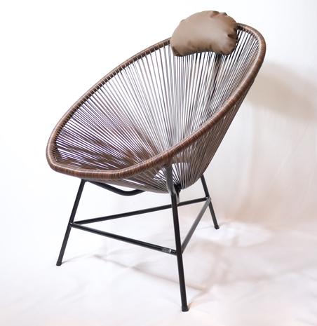cadeira acapulco marrom 80x100x70cm