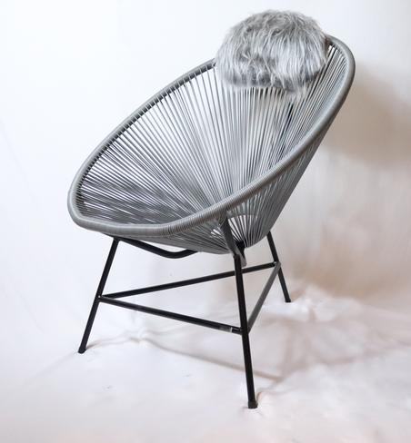 cadeira acapulco cinza 80x100x70cm