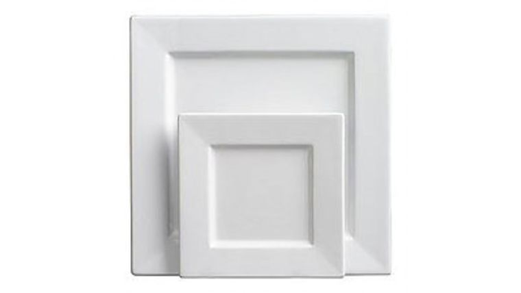Picture of a White Square Plates  sc 1 st  Goodshuffle.com & White Square Plates rentals online - $1/day