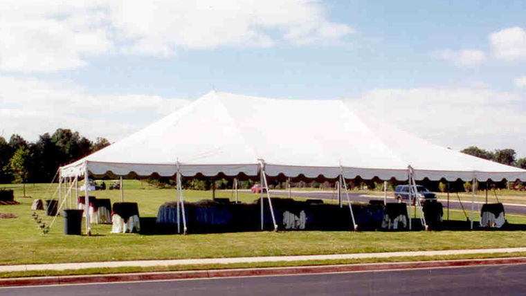 Picture of a 40u0027 x 60u0027 Push Pole-Type Tent & 40u0027 x 60u0027 Push Pole-Type Tent rentals online - $1860/day