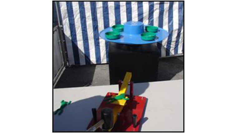 Image of a Lily Pad Leap Carnival Game