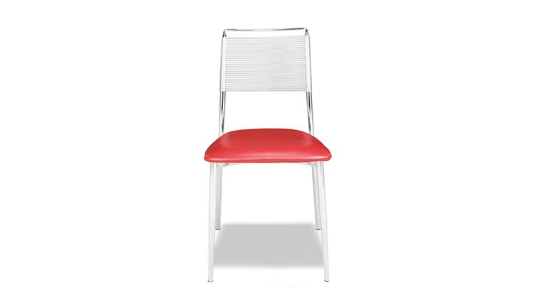 Picture Of A Silk Back Armless Chair   Red