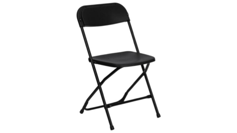 Picture Of A Black Folding Hercules Chair