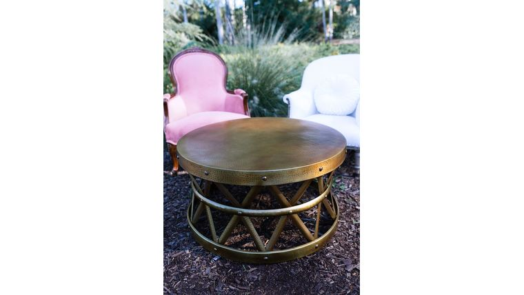 Saachi Brass Drum Coffee Table Rentals Online 75 Day