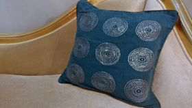 Image of a Blue Silver Swirl Pillowcases