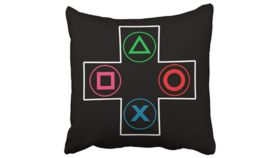 Image of a Black PlayStation Pillowcases