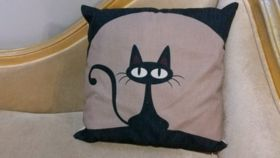 Image of a Black Cat Pillows