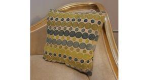Image of a Blue & Green Circles Pillows